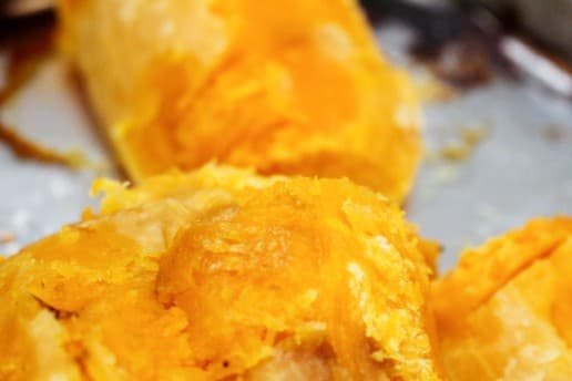 Roasted Butternut Squash With Skin Peeled off